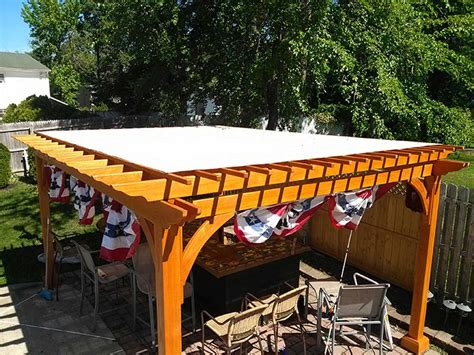 custom fabricated pergola covers