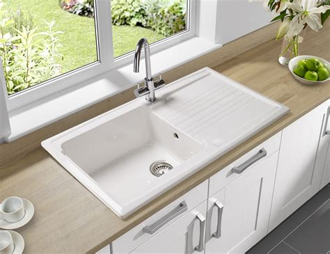 Kitchens Sinks Astracast Equinox 1 0 Bowl Ceramic Inset Kitchen Sink Eq10whhomesk