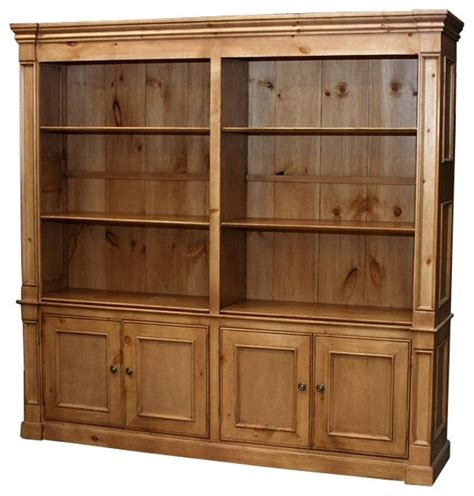 Wide Bookcase Country Wide Bookcase W 6 Shelves Antique White
