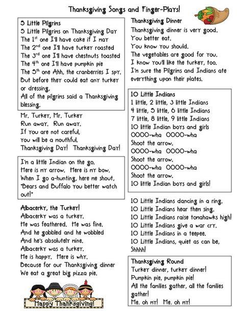 preschool songs fingerplays thanksgiving fingerplays thanksgiving songs and finger