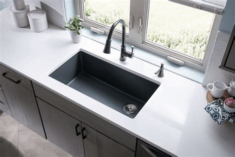 quartz undermount kitchen sinks quartz sinks everything you need to qualitybath