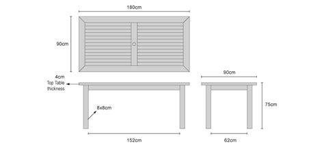 Dining Table Dimensions In M Lt082 Balmoral Table 180x90 990x450 Dining Table