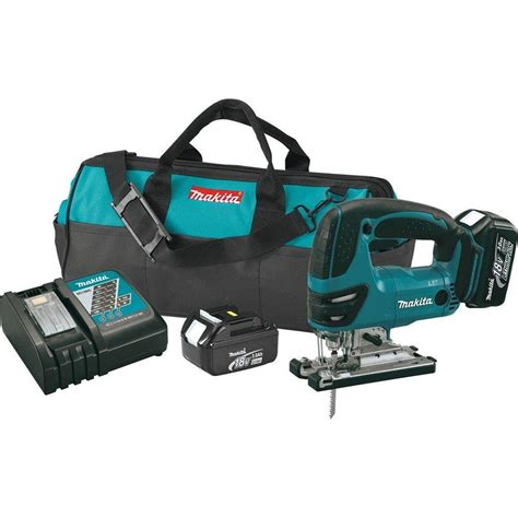 makita 18 volt lxt lithium ion cordless jig saw kit xvj03