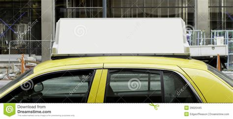 taxi best blank sign on top of taxi stock image image of blank