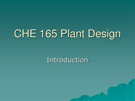 plant layout ppt download ppt che 165 plant design powerpoint presentation id