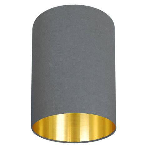 Gold Ceiling Light Shades Brushed Gold Lined L Shade Choice Of Colours By Quirk Notonthehighstreet