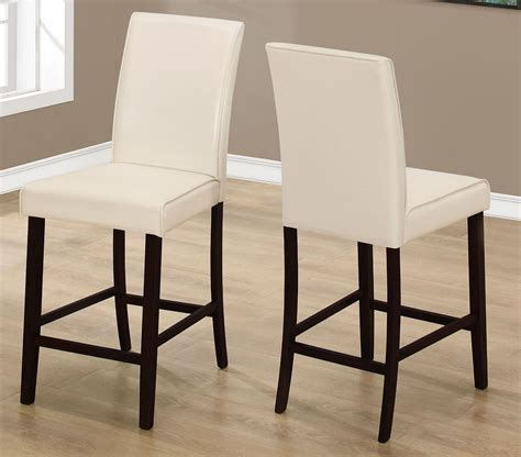 ivory leather dining room chairs ivory leather counter height dining chair set of 2 from