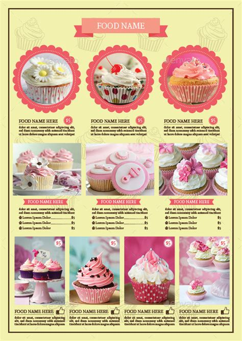 cupcake flyer templates free cupcake flyer template vol 2 by avindaputri graphicriver