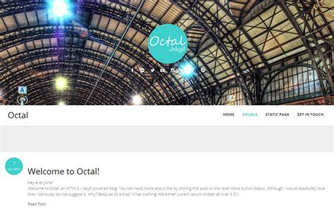 jekyll multiple layout octal jekyll blog theme by uziiuzair themeforest