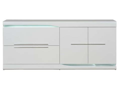 buffet 2 tiroirs 2 portes ovio coloris blanc laqu 233