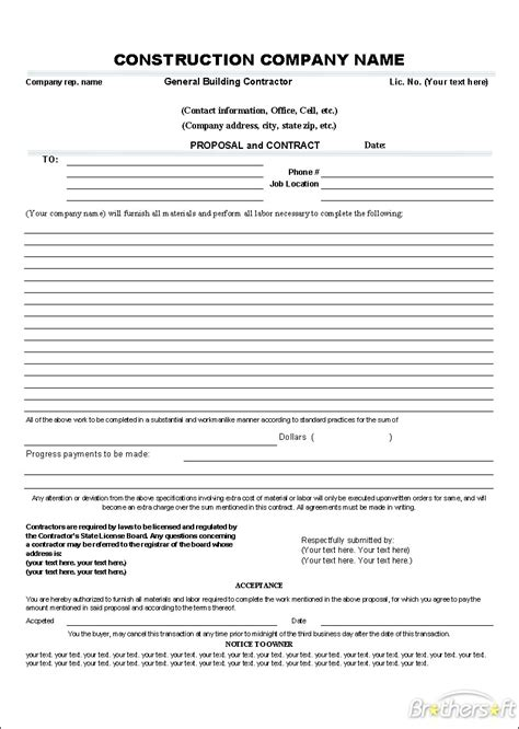 download free proposal and contract template proposal and