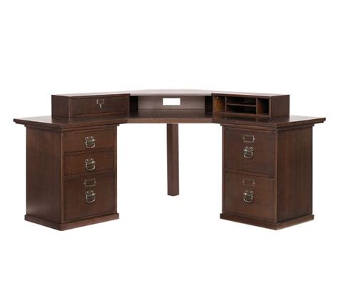 pottery barn corner desk bedford smart technology corner desk hutch pottery barn