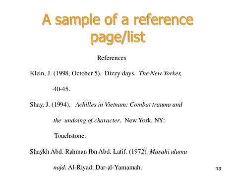 reference page books week4b pptslides apa referencing