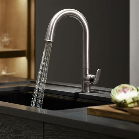 kohler   cp sensate touchless kitchen faucet polished chrome touchless kitchen sink