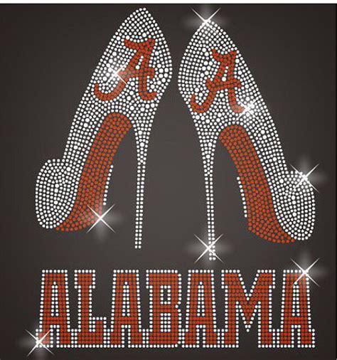 alabama high heels alabama high heels pumps crimson tide a rhinestone iron on