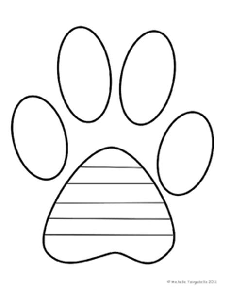Paw Print Book Template By The 3am Teacher Teachers Pay Teachers Paw Print Templates