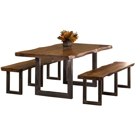 3 piece bench dining set hillsdale emerson 3 piece rectangle dining set with two
