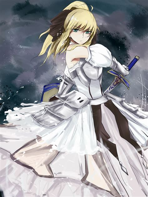 saber lily fanart zerochan anime image board