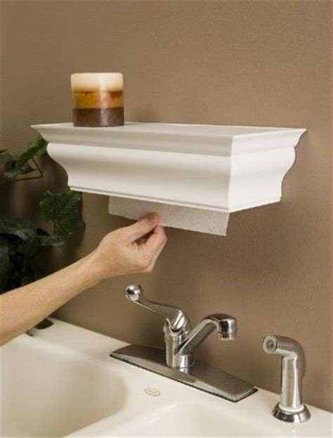 shelf paper towel dispenser easy to make with crown