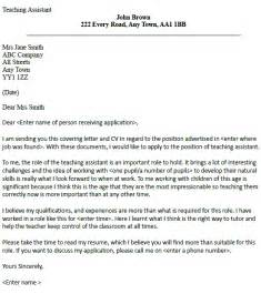Teaching Assistant Covering Letter by Post Reply