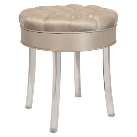 Swivel Vanity Stool 1940s Tufted Swivel Vanity Stool At 1stdibs