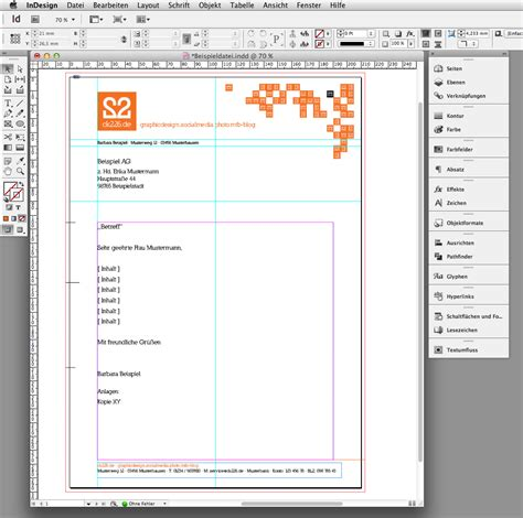 Brief Design Vorlagen In 6 Steps Einen Briefbogen Im Indesign Erstellen 187 Saxoprint