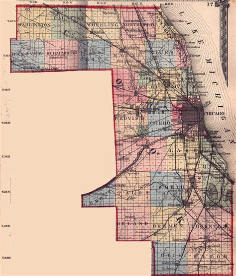 cook county map cook county illinois maps and gazetteers