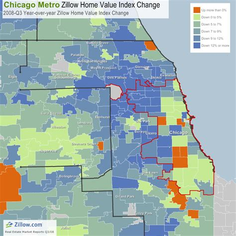 zillow chicago home prices 8 9 from last year the