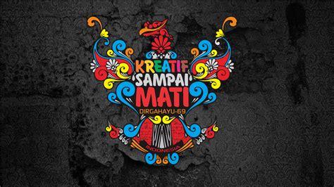 Kaos Budaya Indonesia Garuda background dirgahayu indonesia ke 69 v7 sigit design