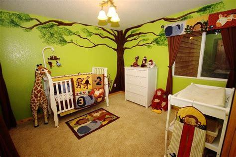 Baby Nursery Jungle Theme by Jungle Theme Baby Room Nursery With Painted Tree Green