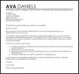 covering letter help desktop support engineer cover letter sle livecareer