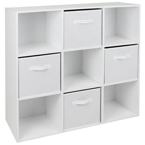 cube storage unit 9 cube storage unit with white drawers hartleys