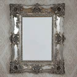 decorative mirror vintage ornate silver decorative mirror by decorative