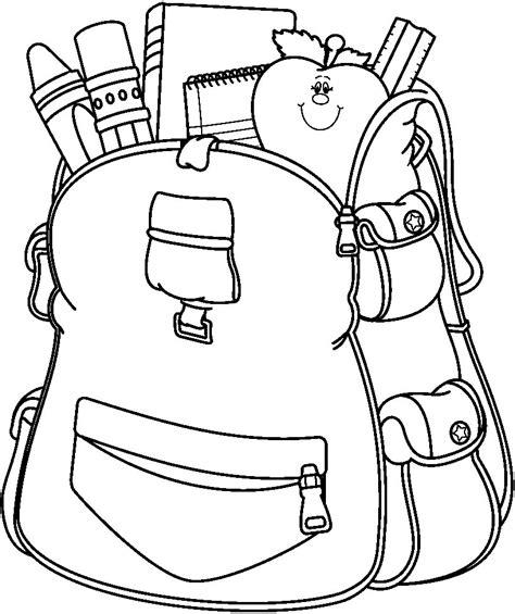 imagenes de utiles escolares en caricatura para colorear mochila escolar para colorear dibujos para colorear