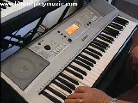 tutorial keyboard yamaha psr yamaha psr e313 demo ez keyboard lesson from www