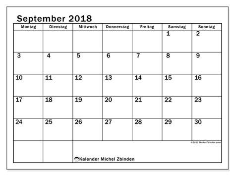 Kalender 2018 August Und September Kalender Zum Ausdrucken September 2018 Deutschland