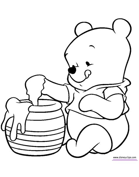 baby winnie the pooh and friends coloring pages coloring