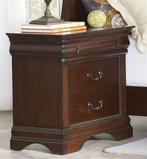 3 drawer nightstand cherry chateau vintage cherry 3 drawer nightstand b4800 40