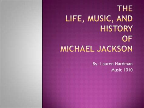 michael jackson biography powerpoint revised michael jackson presentation