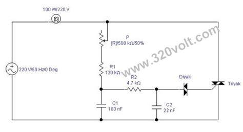 Lu Motor Led Ac dimmer devresi 220v 50hz 100 watt lamba kontrol