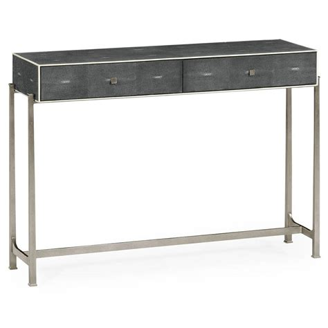 shagreen console table jasper shagreen console table luxe home company