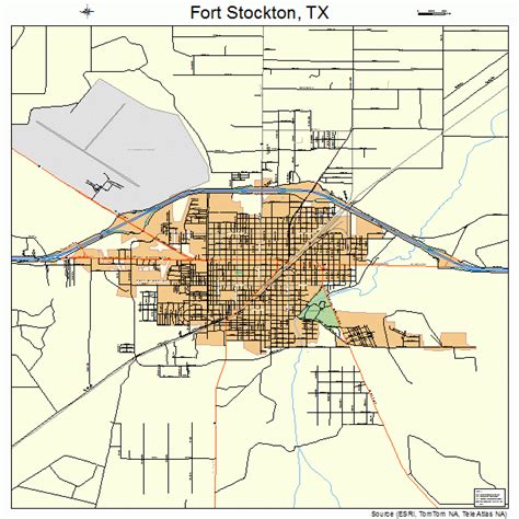 ft texas map fort stockton texas map 4826808