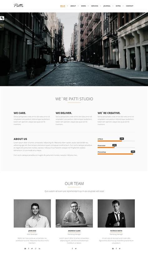 60 best one page website templates free premium web