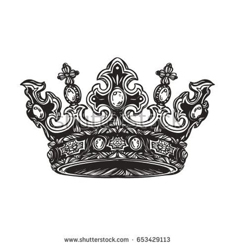 filigree high detailed imperial crown element stock vector