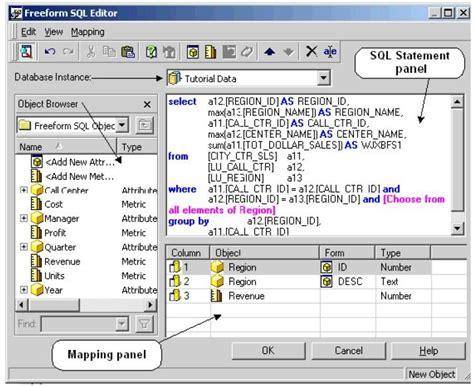Microstrategy Tutorial Web Link | microstrategy tutorials freeform sql reports