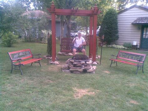 5 swing pit arbor swing with pit for the home garden