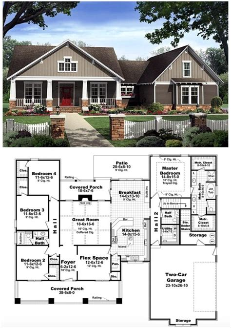 bungalow home plans best 25 house plans ideas on 4 bedroom house