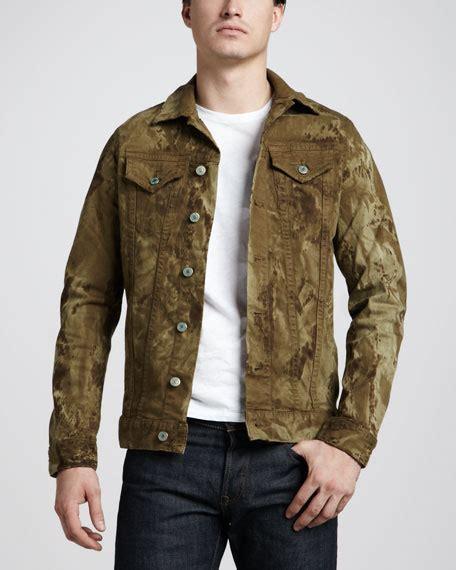 Ca Jaket Wash robin s jean marble wash khaki denim jacket