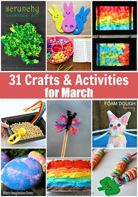 monthly crafts for 31 days of march crafts activities for where