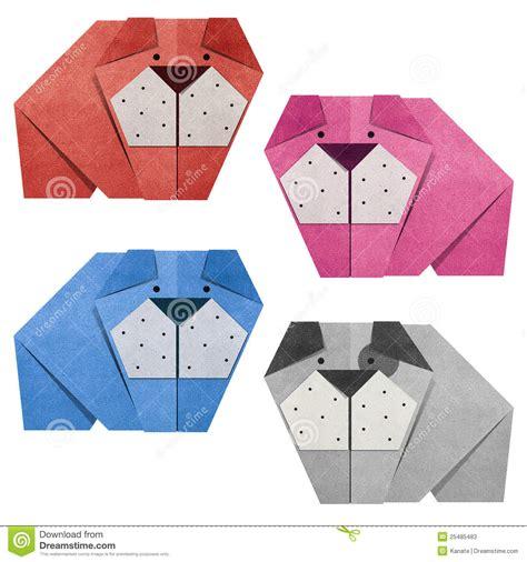 Origami Papercraft - origami bulldog recycled papercraft stock illustration